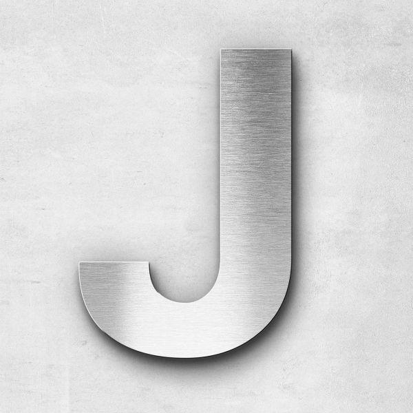 Edelstahlbuchstabe J groß - Serie Sans