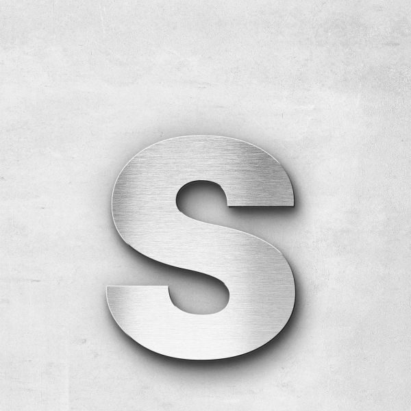 Edelstahlbuchstabe s klein - Serie Sans