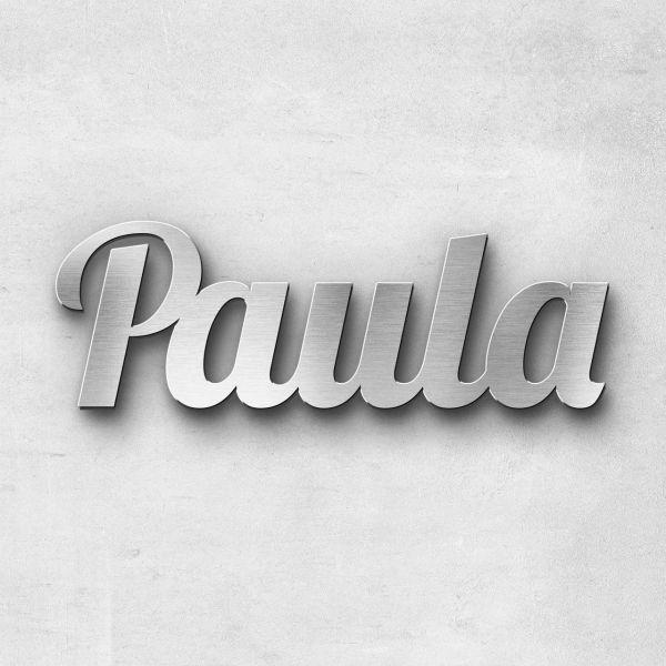 "Schriftzug ""Paula"", Breite: 13 cm, Schriftart: Lilly, Befestigung: Selbstklebend"