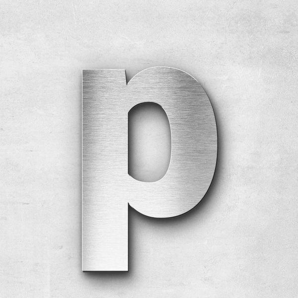 Edelstahlbuchstabe p klein - Serie Sans