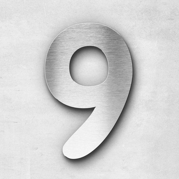 Hausnummer 9 Edelstahl - Serie Darius