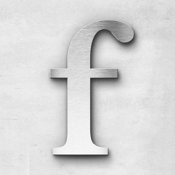 Edelstahlbuchstabe f klein - Serie Serif