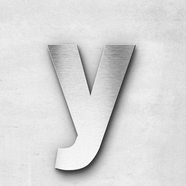 Edelstahlbuchstabe y klein - Serie Sans