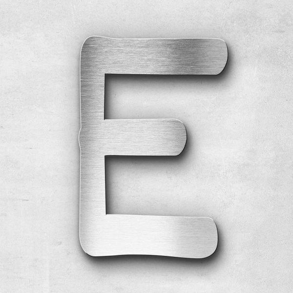 Edelstahlbuchstabe E groß - Serie Malta