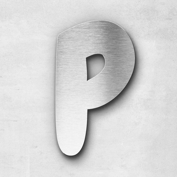 Edelstahlbuchstabe P groß - Serie Darius