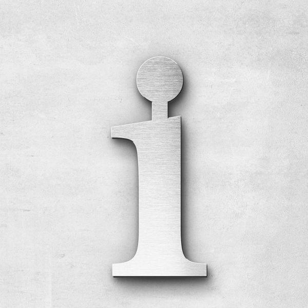 Edelstahlbuchstabe i klein - Serie Serif
