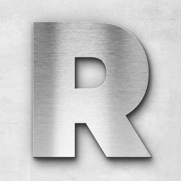 Edelstahlbuchstabe R groß - Serie Kontrast