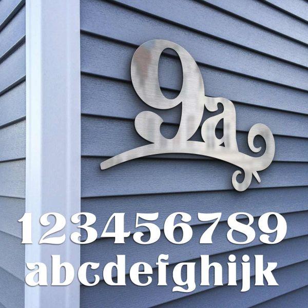 Hausnummer Edelstahl - Serie Design - zweistellig