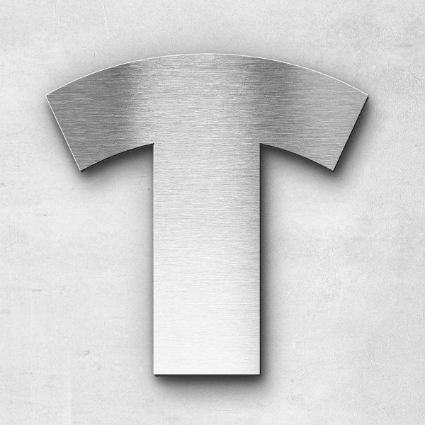 Edelstahlbuchstabe T groß - Serie Kontrast