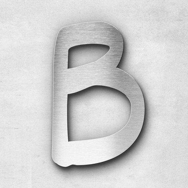 Edelstahlbuchstabe B groß - Serie Malta