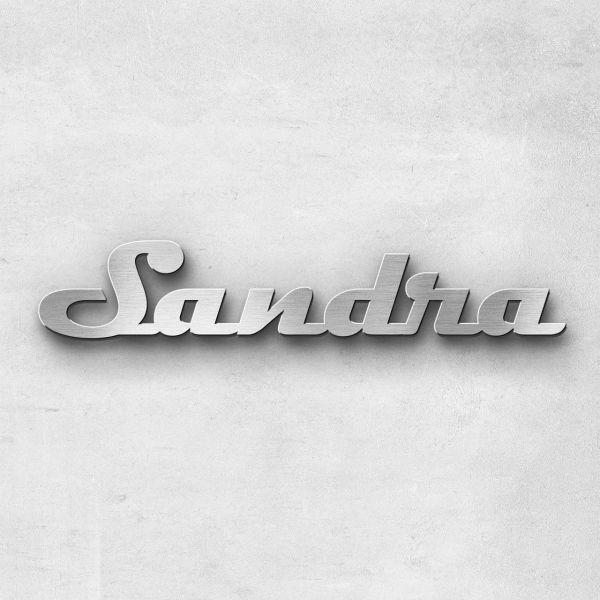 """Schriftzug """"Sandra"""", Breite: 10 cm, Schriftart: Lilly, Befestigung: Ohne"""