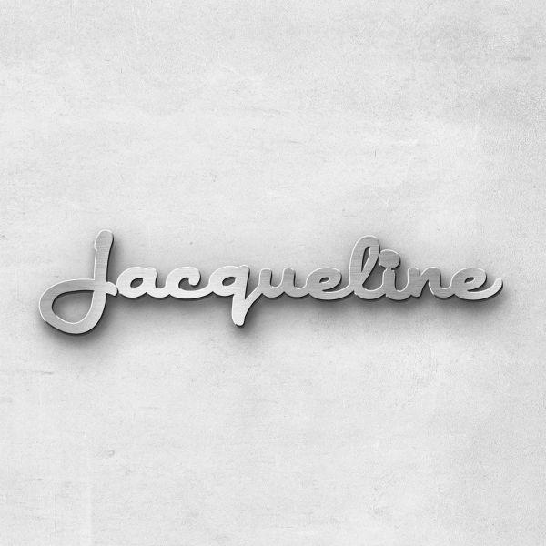 """Schriftzug """"Jacqueline"""", Breite: 15 cm, Schriftart: Rockradio, Befestigung: Selbstklebend"""
