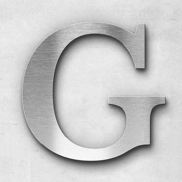 Edelstahlbuchstabe G groß - Serie Serif