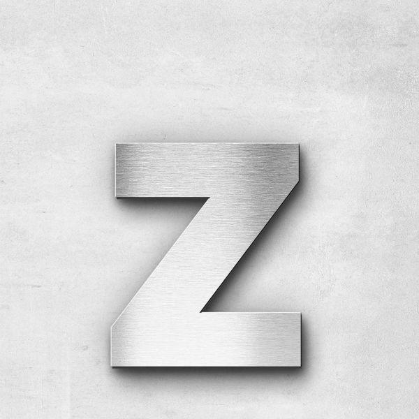 Edelstahlbuchstabe z klein - Serie Sans