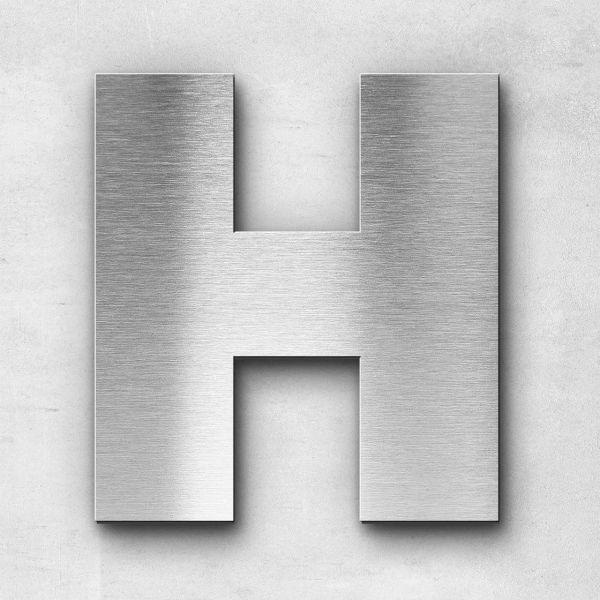 Edelstahlbuchstabe H groß - Serie Kontrast