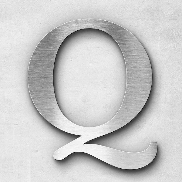 Edelstahlbuchstabe Q groß - Serie Serif