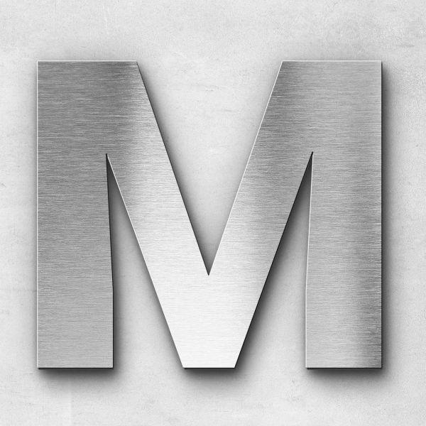 Edelstahlbuchstabe M groß - Serie Sans