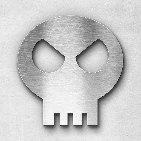 """Motiv """"Skull"""" - Edelstahl gebürstet"""