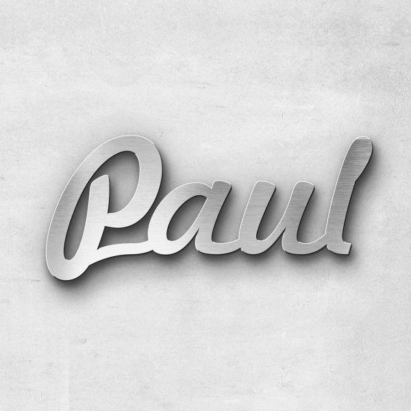"""Schriftzug """"Paul"""", Breite: 13 cm, Schriftart: Rockradio, Befestigung: Selbstklebend"""