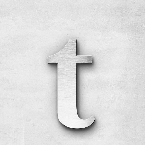 Edelstahlbuchstabe t klein - Serie Serif
