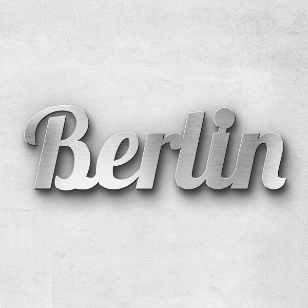"Schriftzug ""Berlin"" Edelstahl gebürstet"