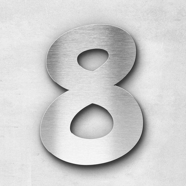 Hausnummer 8 Edelstahl - Serie Darius