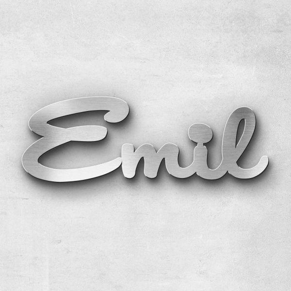 "Schriftzug ""EMIL"", Breite: 8 cm, Schriftart: Capital, Befestigung: Selbstklebend"