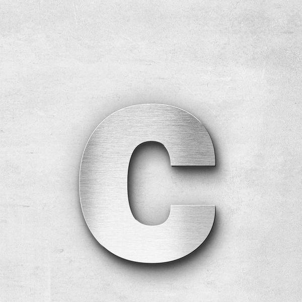 Edelstahlbuchstabe c klein - Serie Sans