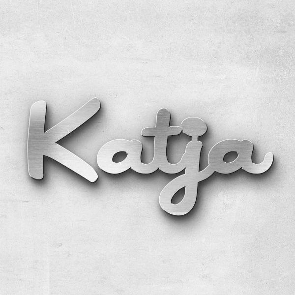 """Schriftzug """"Katja"""", Breite: 20 cm, Schriftart: Scriptus, Befestigung: Selbstklebend"""