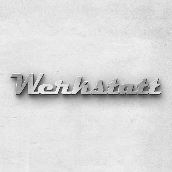 """Schriftzug """"Werkstatt"""", Breite: 40 cm, Schriftart: Capital, Befestigung: Selbstklebend"""