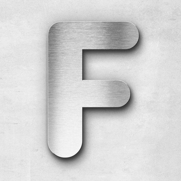 Edelstahlbuchstabe F groß - Serie Classic