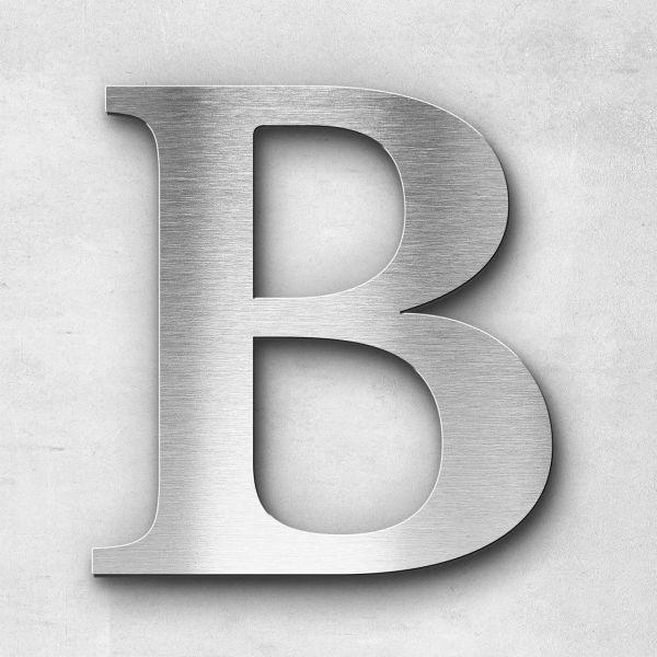 Edelstahlbuchstabe B groß - Serie Serif
