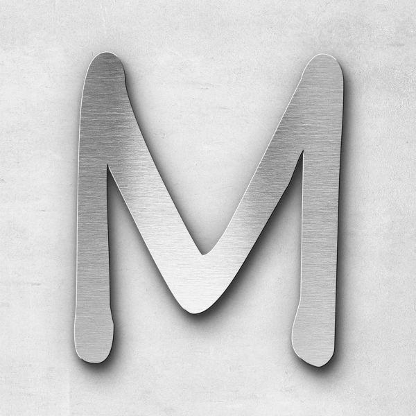 Edelstahlbuchstabe M groß - Serie Malta