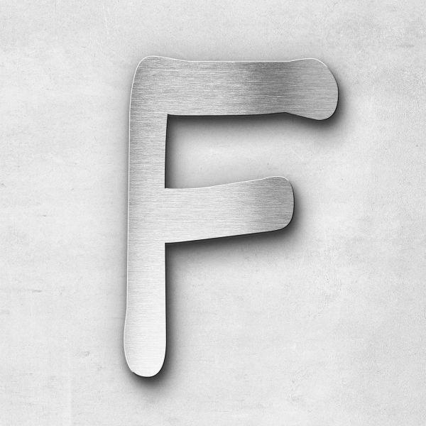 Edelstahlbuchstabe F groß - Serie Malta