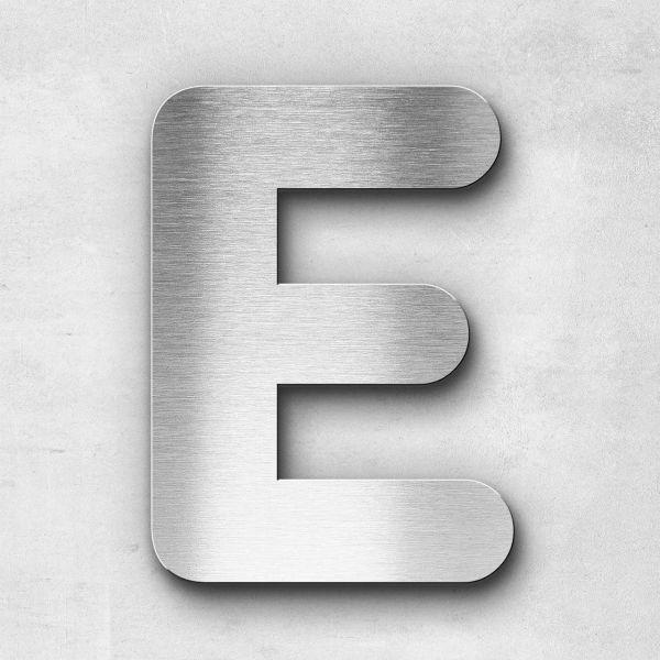 Edelstahlbuchstabe E groß - Serie Classic