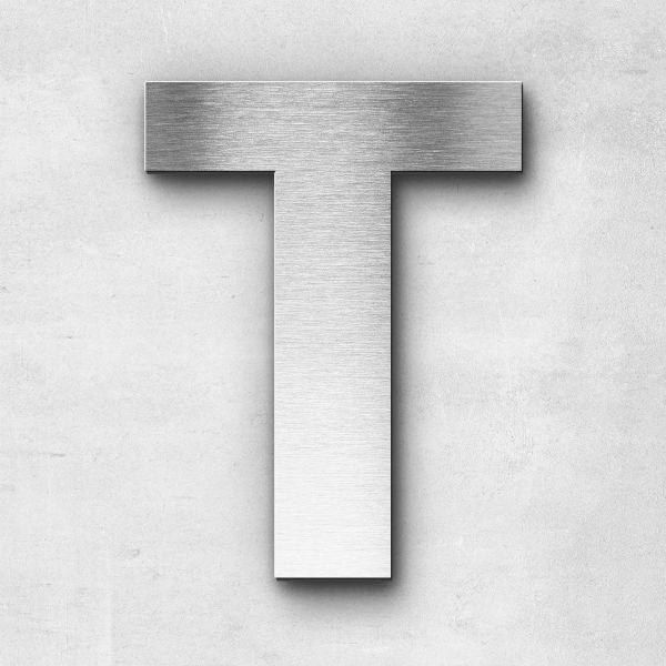 Edelstahlbuchstabe T groß - Serie Sans