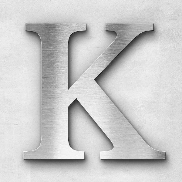 Edelstahlbuchstabe K groß - Serie Serif