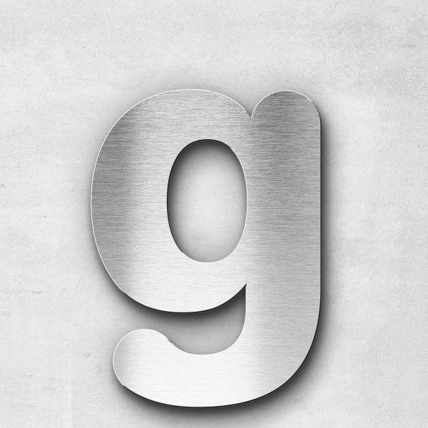Edelstahlbuchstabe g klein - Serie Classic
