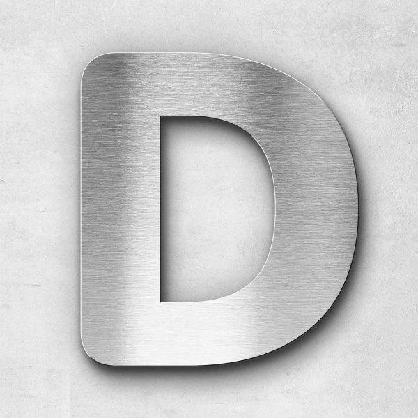 Edelstahlbuchstabe D groß - Serie Classic