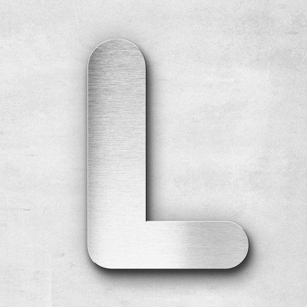 Edelstahlbuchstabe L groß - Serie Classic