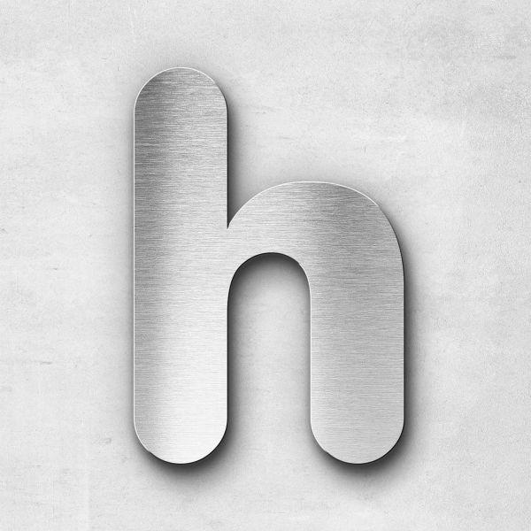 Edelstahlbuchstabe h klein - Serie Classic