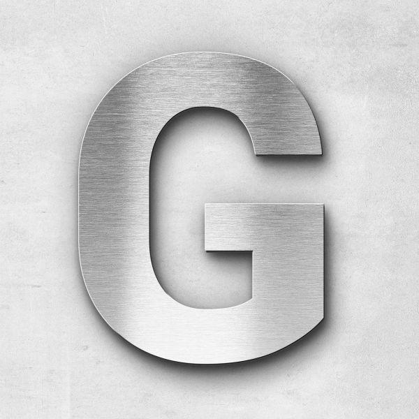 Edelstahlbuchstabe G groß - Serie Sans