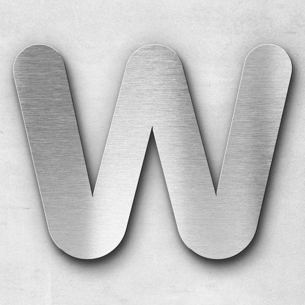 Edelstahlbuchstabe W groß - Serie Classic
