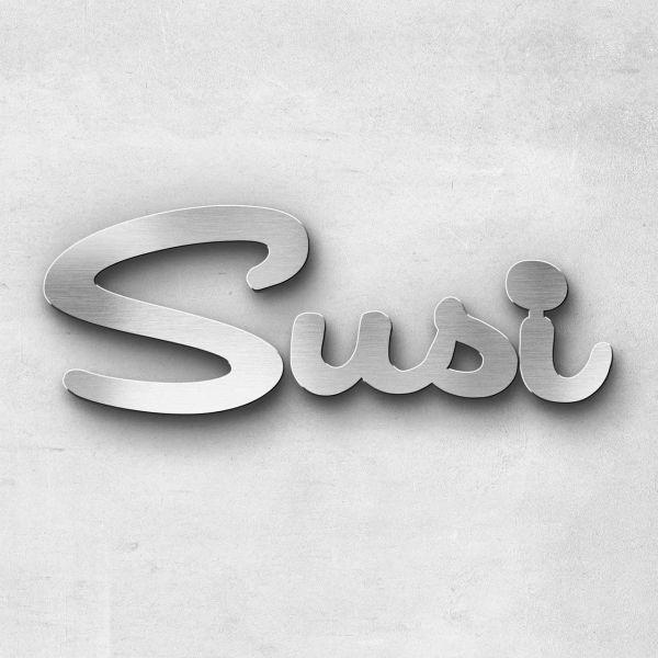 """Schriftzug """"Susi """", Breite: 31 cm, Schriftart: Catdog, Befestigung: Selbstklebend"""