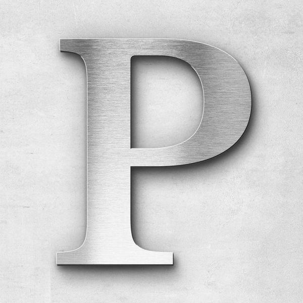 Edelstahlbuchstabe P groß - Serie Serif