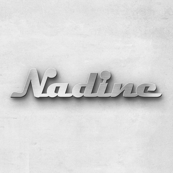 """Schriftzug """"Nadine"""", Breite: 10 cm, Schriftart: Scriptus, Befestigung: Selbstklebend"""