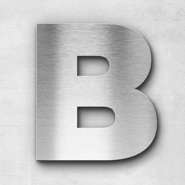 Edelstahlbuchstabe B groß - Serie Kontrast