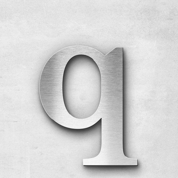 Edelstahlbuchstabe q klein - Serie Serif