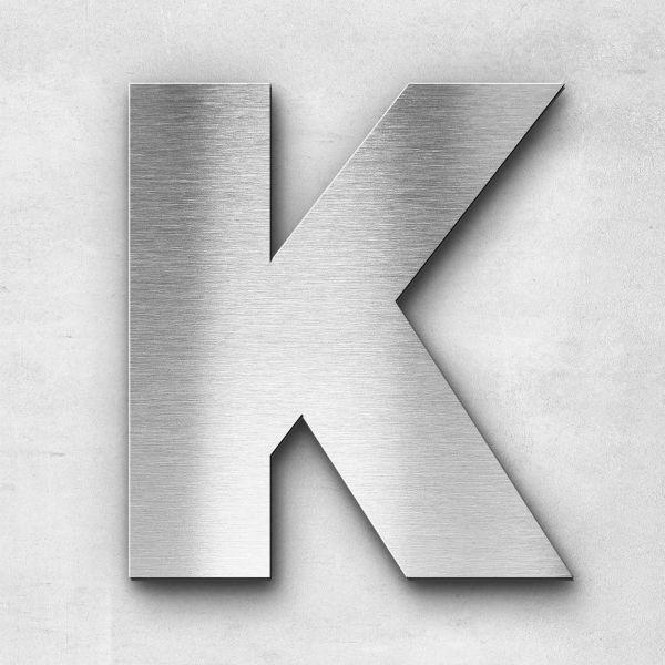Edelstahlbuchstabe K groß - Serie Kontrast