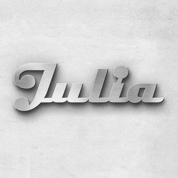 "Schriftzug ""Julia"", Breite: 20 cm, Schriftart: Scriptic, Befestigung: Selbstklebend"